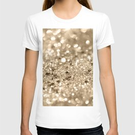 Champagne Gold Lady Glitter #1 #shiny #decor #art #society6 T-shirt