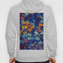 Blue Fall Leaves Autumn Nature Photography Art Hoody