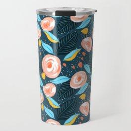 Carly #pattern #illustration #floral Travel Mug