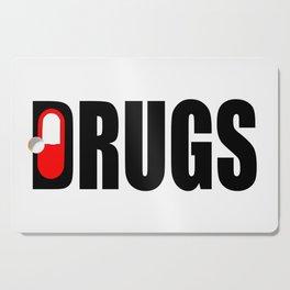 drugs funny logo Cutting Board