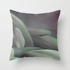 Mint Almond Rocks in Space Throw Pillow