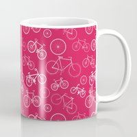 bicycles Mugs featuring Bicycles by Kippy