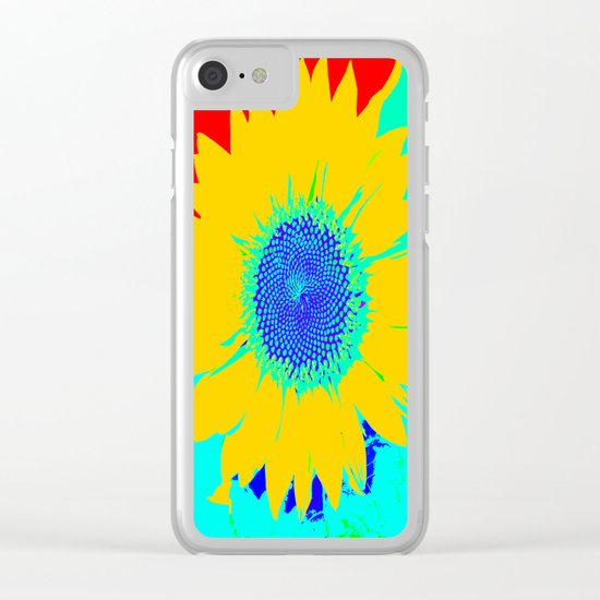 Fun Sunflower Clear iPhone Case