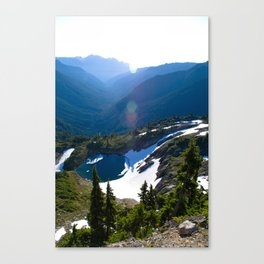 Unknown Lake, Dosewallips River, Olympis National Park Canvas Print