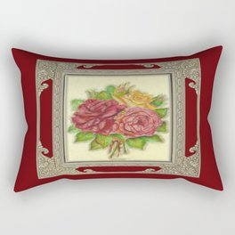 Bunch of Roses red design Rectangular Pillow