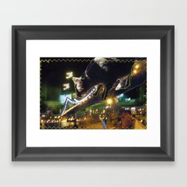 Oppie Over DUMBO Framed Art Print