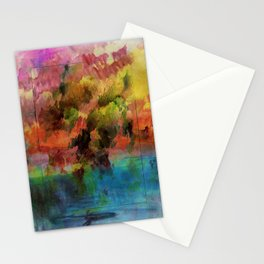 God Particle abstract Stationery Cards