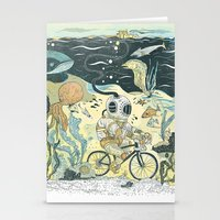 cycling Stationery Cards featuring Cycling in the Deep by Dushan Milic