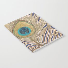 ink peacock feather Notebook
