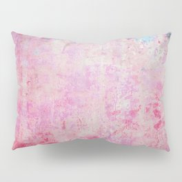 abstract vintage wall texture - pink retro style background Pillow Sham