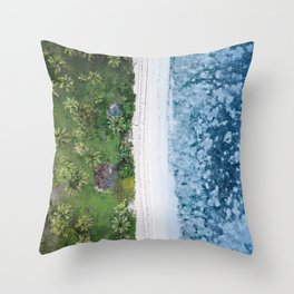 Tropical Colours Layers | Aerial Fine Art Photo Throw Pillow