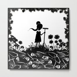 Mary, Mary Quite Contrary Metal Print