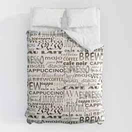 Coffee - In So Many Words Comforters