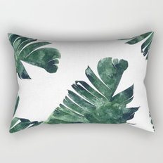Banana Leaf Watercolor Pattern #society6 Rectangular Pillow