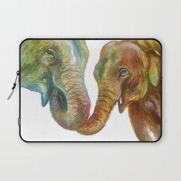 Mommy and Baby Elephant Laptop Sleeve