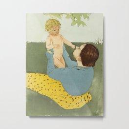 Mary Cassatt - Under the Horse-Chestnut Tree Metal Print