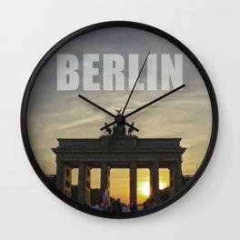 BERLIN, Sunset at the Brandenburg Gate Wall Clock
