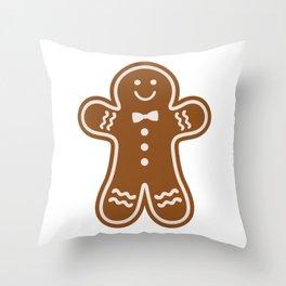 Gingerbread Hugs Throw Pillow