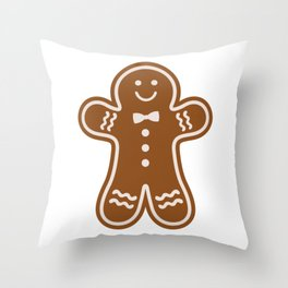 Gingerbread Hugs Throw Pillow