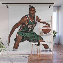 LeBron J Dunking Wall Mural