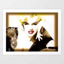 Portrait of  Marilyn Monroe Art Print