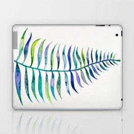 Indigo Palm Leaf Laptop & iPad Skin