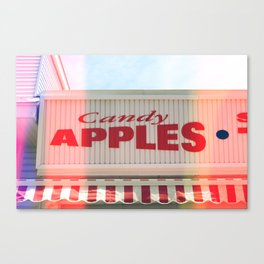 Candy Apples Boardwalk Sign Canvas Print