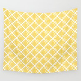 yellow square Wall Tapestry
