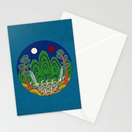 Minhwa: Sun, Moon and 5 Mountains: King's painting B_1 Type Stationery Cards