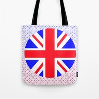 uk Tote Bags featuring UK by the power of Mars