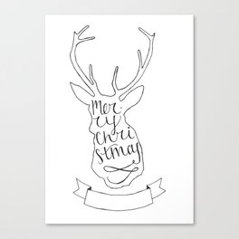 Merry Christmas Deer (1) Canvas Print