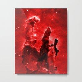 Eagle Nebula Red Metal Print