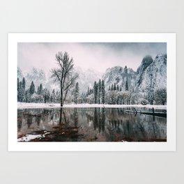 Yosemite Valley Mirror Art Print