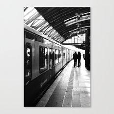 S-Bahn Berlin black and white photo Canvas Print
