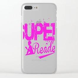 SUPER READER Clear iPhone Case