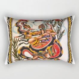 Bert Grimm's Serpent Girl Rectangular Pillow