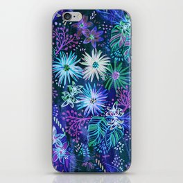 Eden Floral Blue iPhone Skin