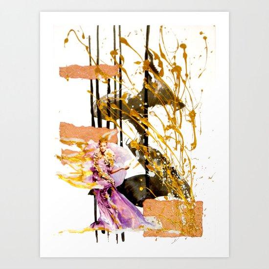 Goldengirl Art Print