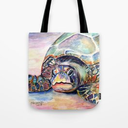Turtle at Poipu Beach Tote Bag