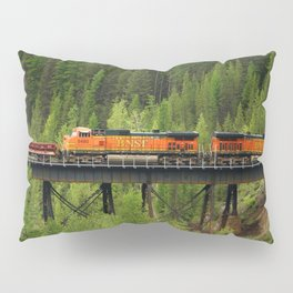BNSF Going Over Goat Lick Creek Pillow Sham