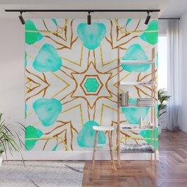 teal trend geometric Wall Mural