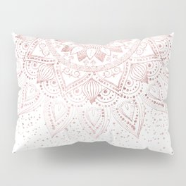 Elegant rose gold mandala confetti design Pillow Sham