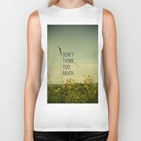 font Biker Tanks featuring Travel Like A Bird Without a Care by Olivia Joy StClaire
