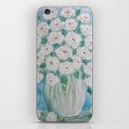 Send Me White Roses iPhone Skin