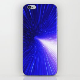 High energy particles traveling through space-time iPhone Skin