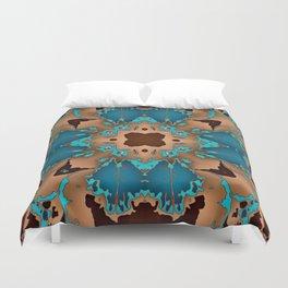 Brown Blue Azalea 1 Duvet Cover