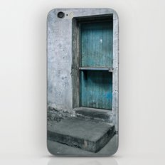 What's behind the old blue door? iPhone & iPod Skin
