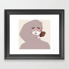 Untitled in Red Framed Art Print