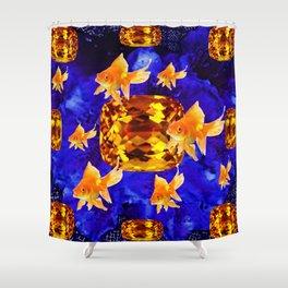 Surreal Goldfish Gems  Dreamscape Shower Curtain