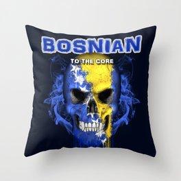 To The Core Collection: Bosnia & Herzegovina Throw Pillow